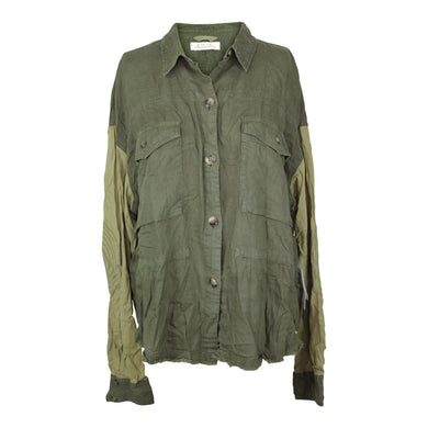 Free People DAY DRIFTER TOP sz M in Army Green NWT $128