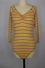 Load image into Gallery viewer, Free People PUT A STRIPE ON IT Bodysuit sz S in Sunset Combo NWT $48