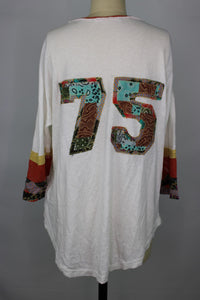 Free People BLITZ TEE sz S in Ivory NWT $148