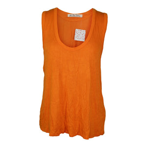 Free People TAKE THE PLUNGE TANK sz S in Orange Pop NWT $38