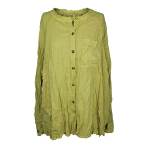 Free People KEEP IT SIMPLE Button Down Shirt sz XS in New Pear Green NWT $108