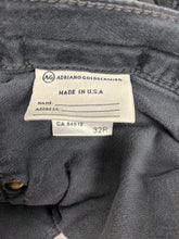 Load image into Gallery viewer, $198 AG Adriano Goldschmied Legging Super Skinny Gray Velvet Pants Autumn Fog 32