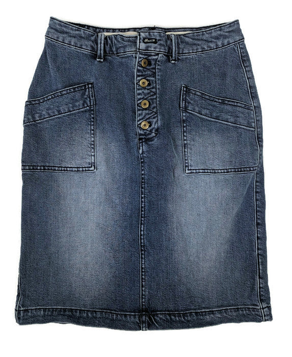 Anthropologie Pilcro and the Letterpress Denim Skirt sz 6