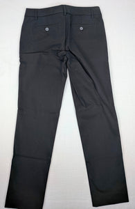 NWT JCP for JC Penny Black Chino Stretch Ankle Pant sz 4P / 27