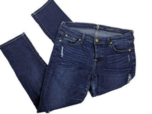 Load image into Gallery viewer, 7 For All Mankind Josefina Skinny Boyfriend Dark Wash Jeans sz 30