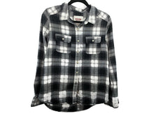 Load image into Gallery viewer, Mossimo Target Black White Plaid Flannel Button Down sz L