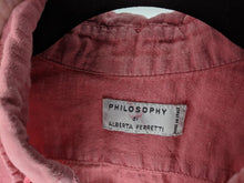 Load image into Gallery viewer, Philosophy di Alberta Ferretti Linen Blouse sz 2