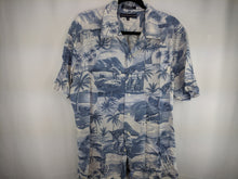 Load image into Gallery viewer, Tommy Hilfiger Blue Hawaiian Print Shirt sz L