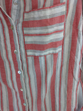 Load image into Gallery viewer, Stylebook Striped Shirtdress Tunic sz S