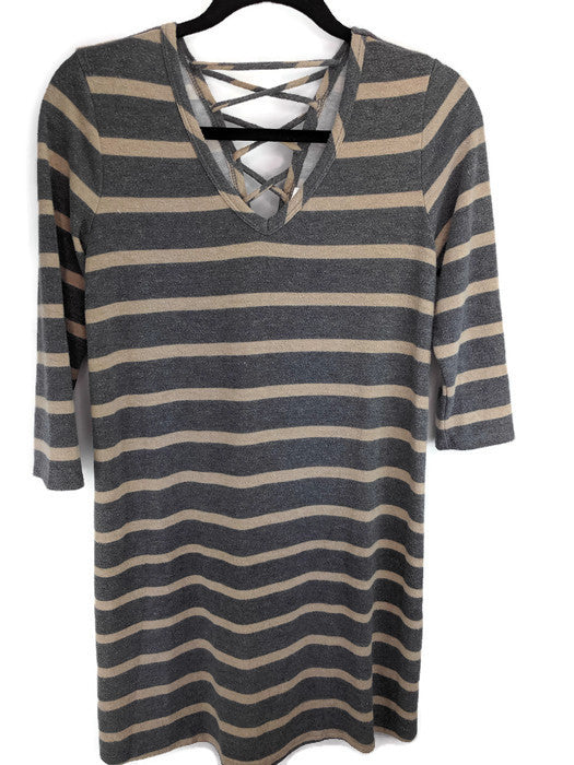 C Striped Sweater Dress sz S