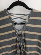Load image into Gallery viewer, C Striped Sweater Dress sz S