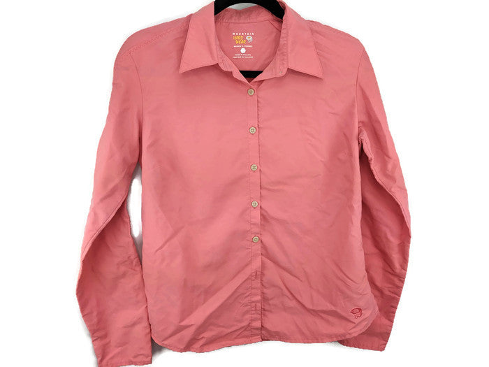 Mountain Hardwear Womens Button Down Shirt sz 10 / 42