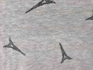Gap Favorite Tee Gray with Eiffel Tower Print sz S