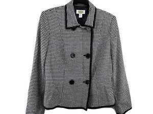 Talbots Double Breasted Houndstooth Jacket sz 8