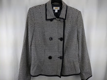 Load image into Gallery viewer, Talbots Double Breasted Houndstooth Jacket sz 8