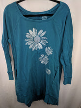 Load image into Gallery viewer, Life is Good Sweatshirt Dress Tunic sz M