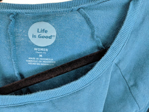 Life is Good Sweatshirt Dress Tunic sz M