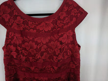 Load image into Gallery viewer, Dress Barn Collection Red Lace Sheath Dress sz 18