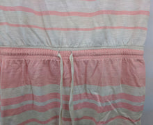 Load image into Gallery viewer, Ann Taylor Loft Pink Beige Stripe Shift Dress sz S
