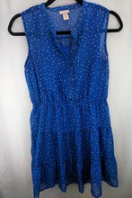 Load image into Gallery viewer, Mossimo Blue Tiered Ruffle Dress sz M