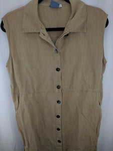 IVY Linen Shirt Dress sz XL
