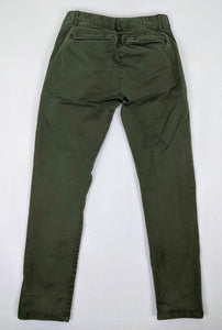 Gap Skinny Mini Khakis Army Green sz 2