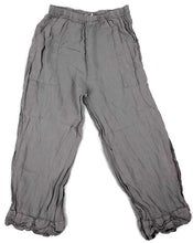 Load image into Gallery viewer, La Fixsun Gray Linen Pants Scallop Ruched Hem
