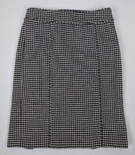 Load image into Gallery viewer, Banana Republic Pencil Skirt Black White Houndstooth sz 4
