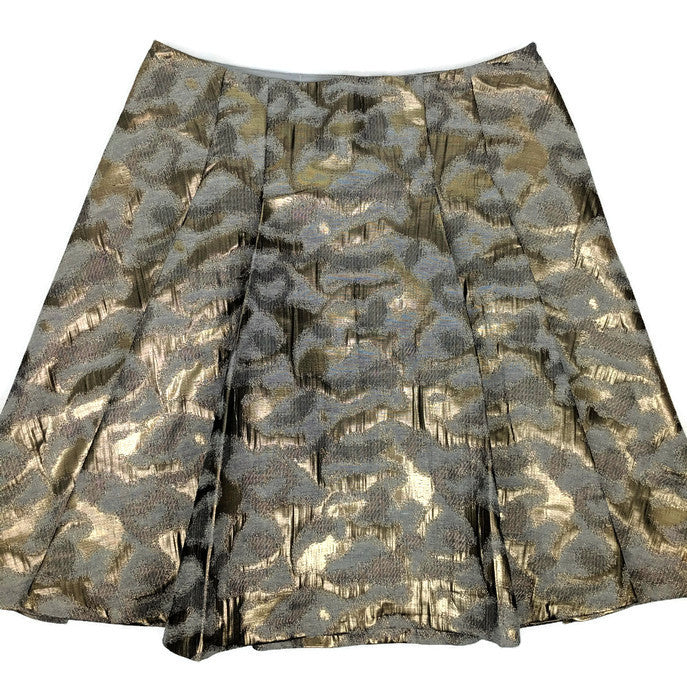 NWT $80 The Limited Skirt Gold Metallic Brocade sz S