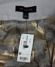 Load image into Gallery viewer, NWT $80 The Limited Skirt Gold Metallic Brocade sz S