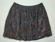 Load image into Gallery viewer, Fossil Pleated Skirt Crushed Velvet Top Layer sz M