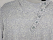 Load image into Gallery viewer, Horny Toad Button Neck Hoodie Periwinkle Blue sz L