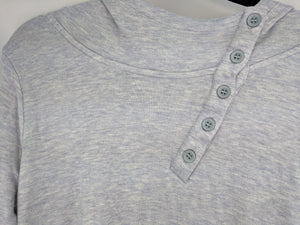 Horny Toad Button Neck Hoodie Periwinkle Blue sz L