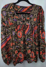 Load image into Gallery viewer, Zara Trafaluc Peasant Top sz L