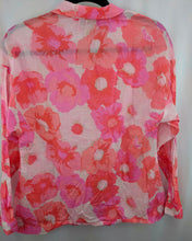 Load image into Gallery viewer, Ann Taylor Loft Pink Floral Shirt sz S