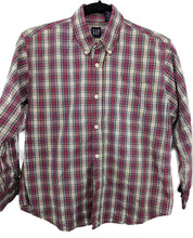 Load image into Gallery viewer, Gap Kids Plaid Button Down Shirt sz L