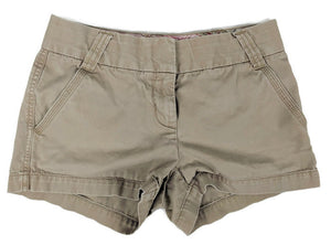 J.Crew Classic Twill Chino Short City Fit sz 0