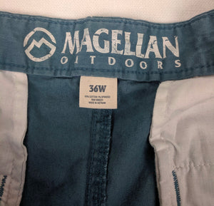 Mens Magellan Outdoors Chino Shorts sz 36W