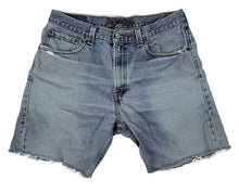Load image into Gallery viewer, Levi's 505 Denim Cut Off Jean Shorts Label sz 34