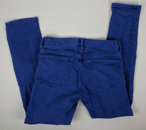 J Crew Toothpick Colored Denim Jeans sz 25