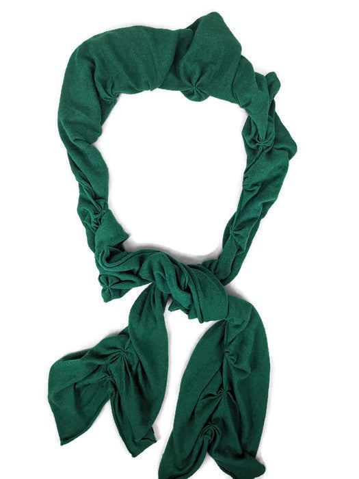 Banana Republic Luxury Cashmere Blend Kelly Green Ruched Scarf
