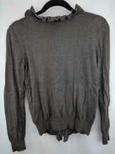Load image into Gallery viewer, Ann Taylor Brown Ruffle Cardigan sz M