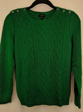 Load image into Gallery viewer, $70 Talbots Cableknit Lambswool Blend Sweater sz S