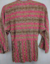 Load image into Gallery viewer, Nic + Zoe Cardigan Tie Front Silk Sweater sz M