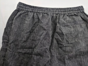 Rachel Comey New York Linen Wide Leg Pants Black White Stripe Made in US sz 10