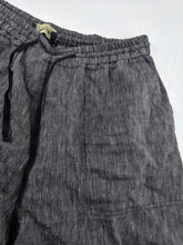 Load image into Gallery viewer, Rachel Comey New York Linen Wide Leg Pants Black White Stripe Made in US sz 10