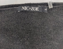 Load image into Gallery viewer, Nic+Zoe Deep V Wrap Front Sweater sz XL