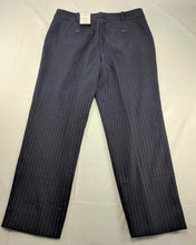 Load image into Gallery viewer, $48 NWT Liz Claiborne Emma Ankle Pant Navy w/ Red Pinstripe sz 12