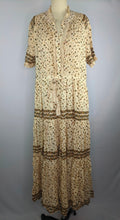 Load image into Gallery viewer, Free People Women Dress L Rare Feeling Maxi Natural Floral Boho Peasant NWT $148