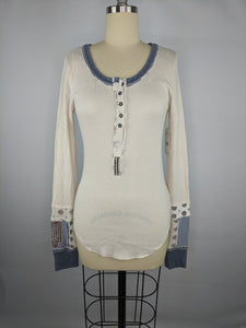 We The Free People Railroad Henley sz M NWT